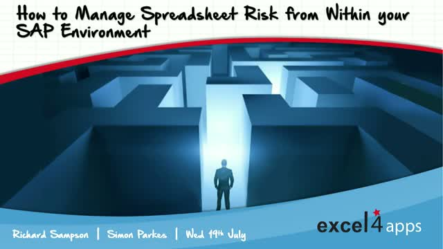 How to Manage Spreadsheet Risk from Within your SAP Environment