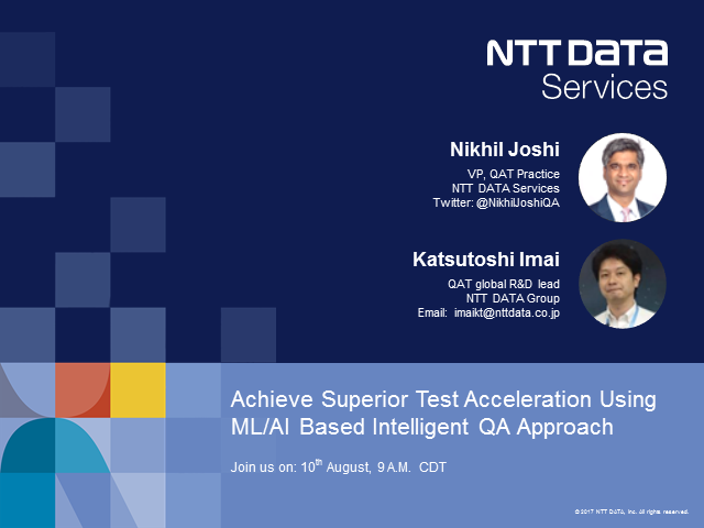 NTT DATA's Intelligent QA Approach