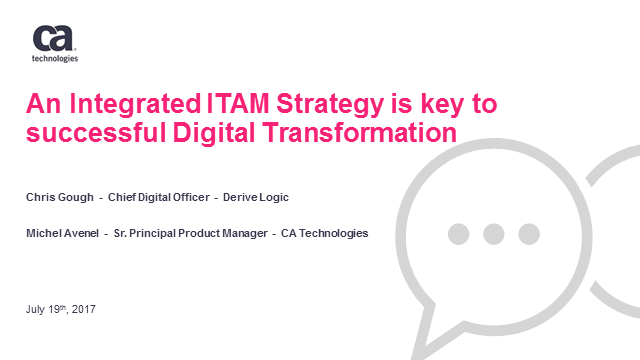 An Integrated ITAM Strategy is key to successful Digital Transformation