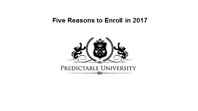 5 Reasons to Enrol in Predictable University in 2017