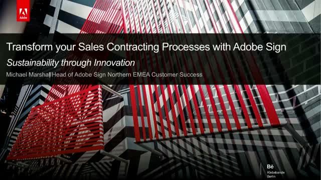 Sustainability through Innovation: Transforming your Sales Cycle with Adobe Sign