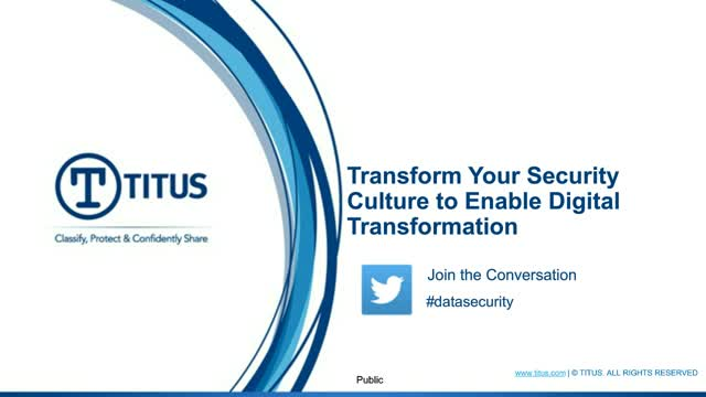 Transform Your Security Culture to Enable Digital Transformation