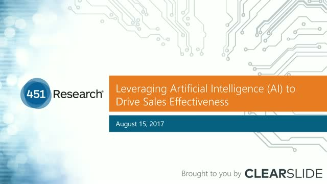 Leveraging Artificial Intelligence (AI) to Drive Sales Effectiveness