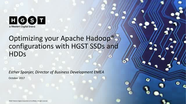 Optimizing Hadoop environments with HGST SSD and HDDs