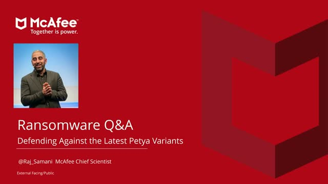[Ask the Expert Q&A] McAfee's Raj Samani on the Petya Ransomware Attacks