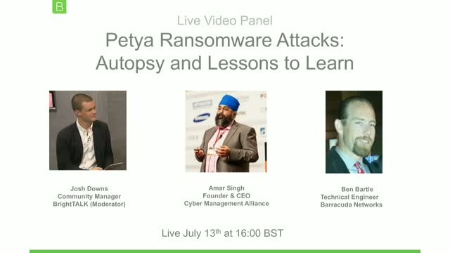 Petya Ransomware Attacks: Autopsy and Lessons to Learn
