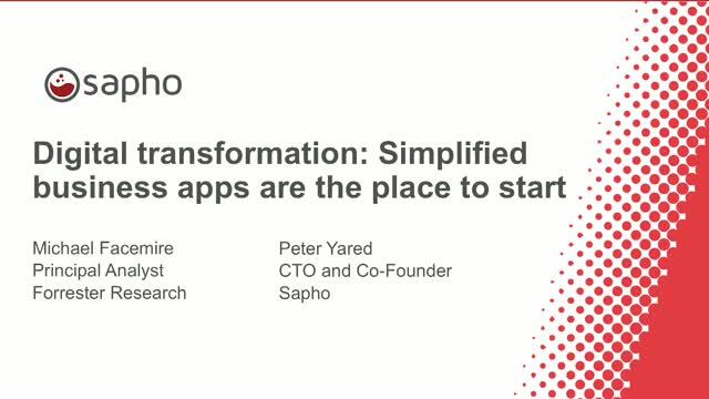 Digital transformation: Simplified business apps are the place to start