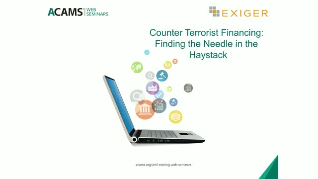 Counter Terrorist Financing: Finding the Needle in the Haystack