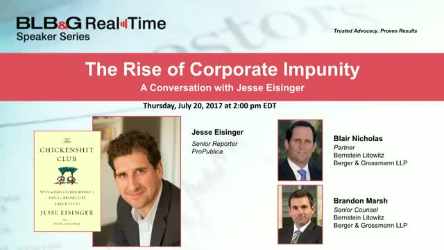 The Rise of Corporate Impunity - A Conversation with Jesse Eisinger