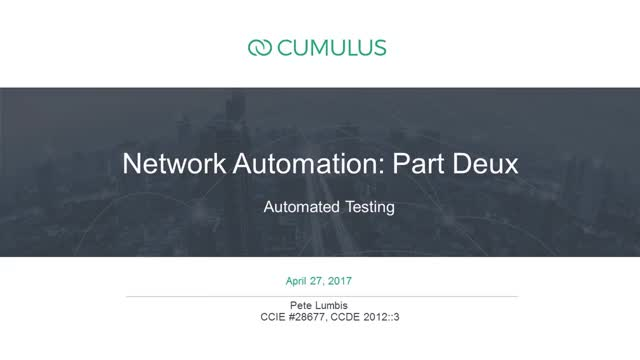 Network Automation: A deep dive on how to manage an automated network