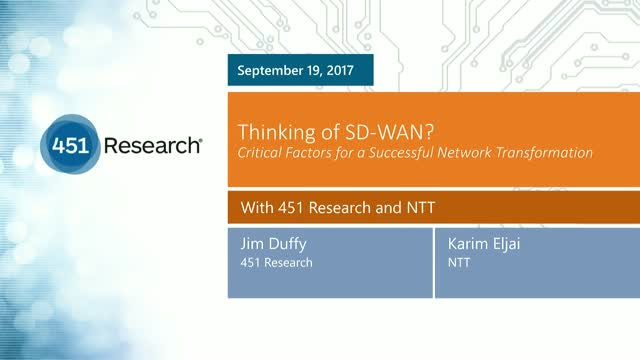 Thinking of SD-WAN? Critical Factors for a Successful Network Transformation