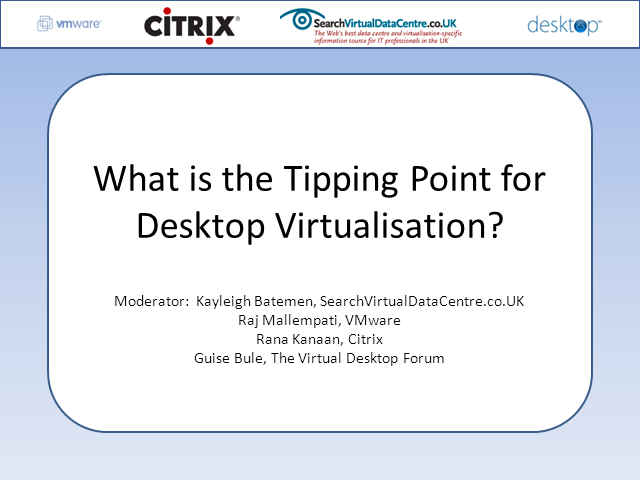 What is the Tipping Point for Desktop Virtualisation?
