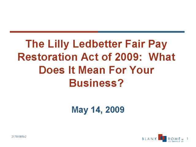 lilly ledbetter fair pay restoration act