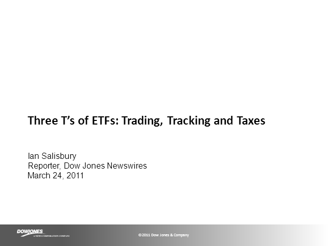 Three T's of ETFs: Trading, Tracking and Taxes