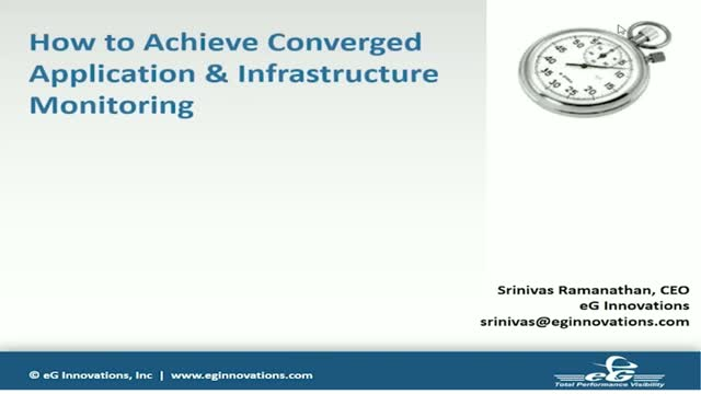 How to Achieve Converged, Integrated Application & Infrastructure Monitoring