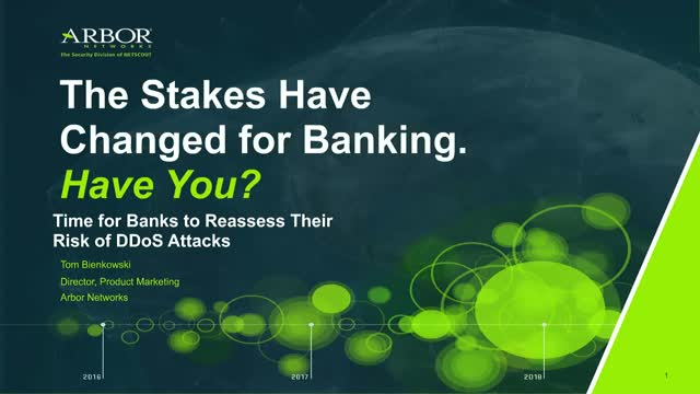Time for Banks to Reassess Their Risk of DDoS Attacks