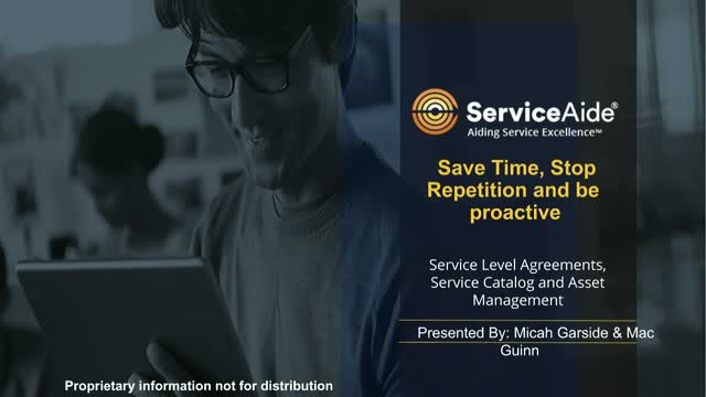 Stop repetition, Save time and Be proactive with our Service Desk Edition.