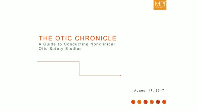 The Otic Chronicle │ A Guide to Conducting Nonclinical Auditory Studies