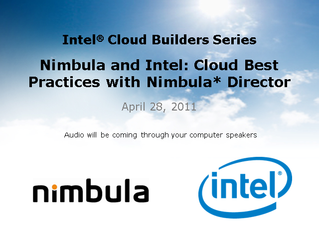 Nimbula and Intel: Cloud Best Practices with Nimbula* Director