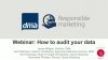 Webinar: How to audit your data