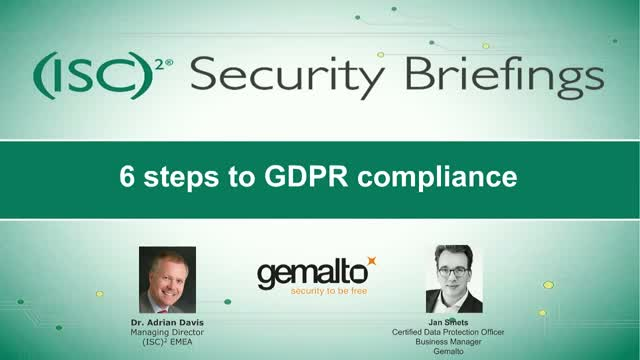 Part 1: 6 steps to GDPR compliance