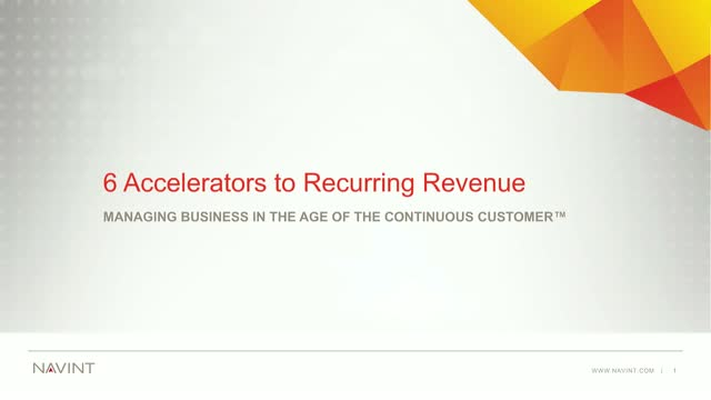 Subscriptions & the Continuous Customer: 6 Accelerators to Recurring Revenue
