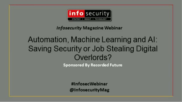 Automation, Machine Learning, and AI: Saving Security or Job Stealing Overlords?