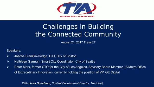 Challenges in Building Connected Communities