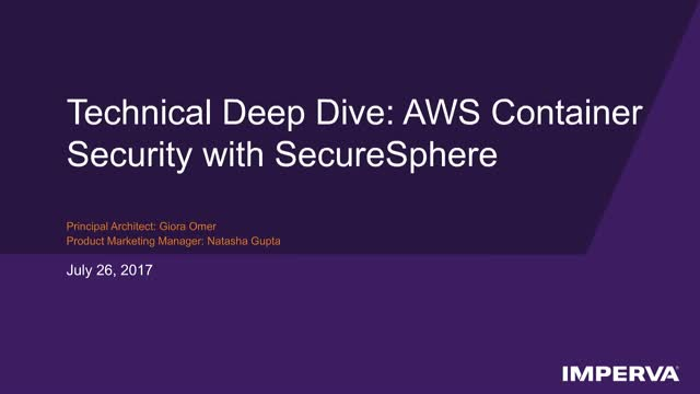 Tech Demo - AWS Container Security with SecureSphere