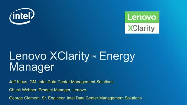 Lenovo and Intel discuss how to make your data center more efficient