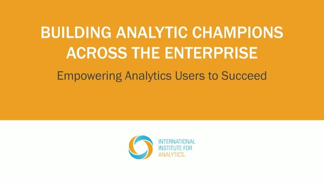 Building Analytics Champions Across the Enterprise