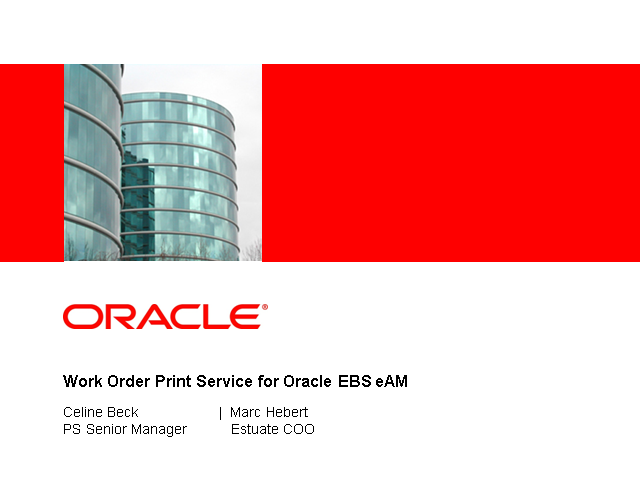 Print Work Order Packets & Related Attachments in Oracle EBS eAM