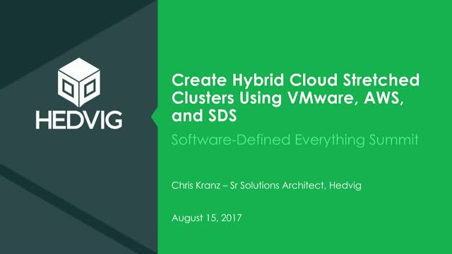 Create Hybrid Cloud Stretched Clusters Using VMware, AWS, and SDS