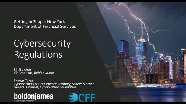 Getting in Shape – NYDFS (23 NYCRR 500) Cyber Security Regulations