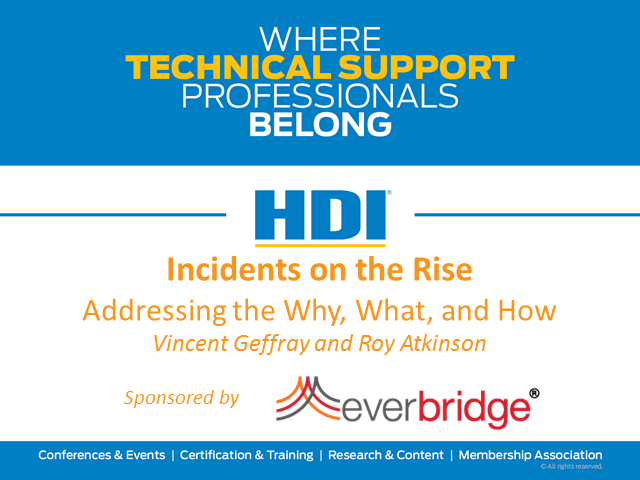 Incidents on the Rise: Addressing the Why, What, and How