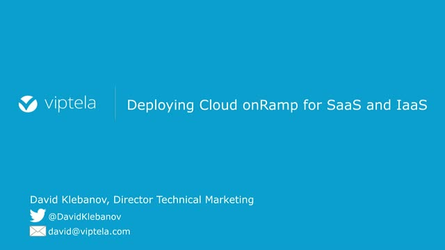 Deploying Cloud onRamp for AWS, Azure, and Office365