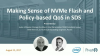 Making Sense of NVMe Flash and Policy-based QoS in SDS