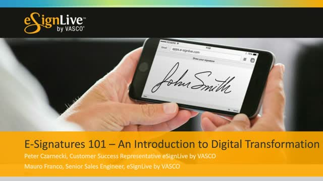 E-Signatures 101: An Introduction to Digital Transformation
