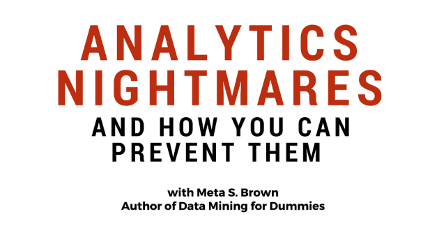 Analytics Nightmares and How You Can Prevent Them