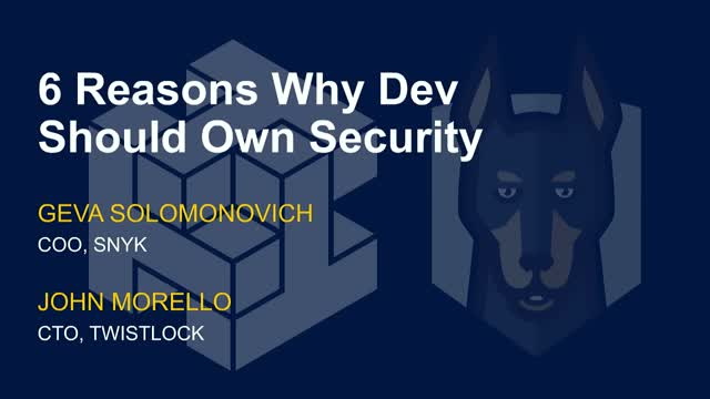 6 Reasons Why Dev Should Own Security