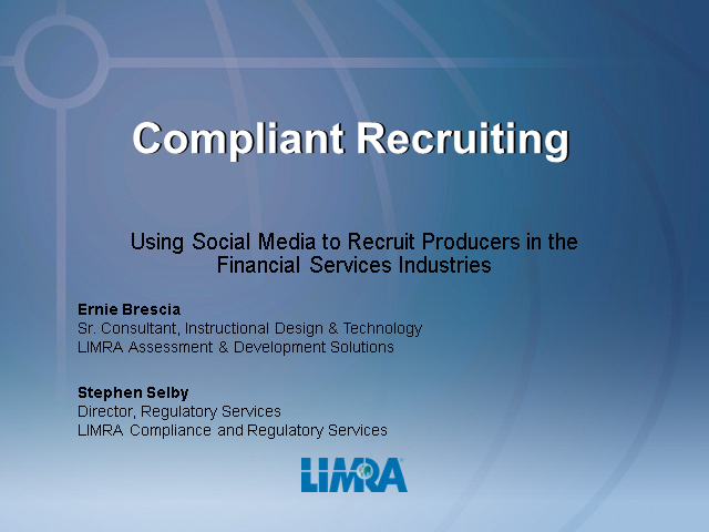 Compliant Social Recruiting for Financial Services Firms