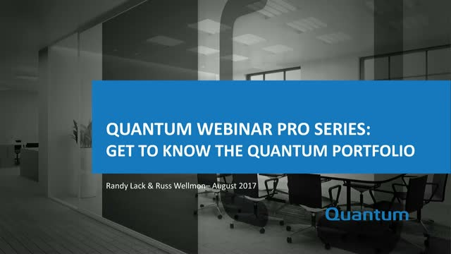 Quantum Pro Series: Get to Know the Quantum Portfolio