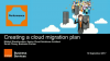 Creating a cloud migration plan
