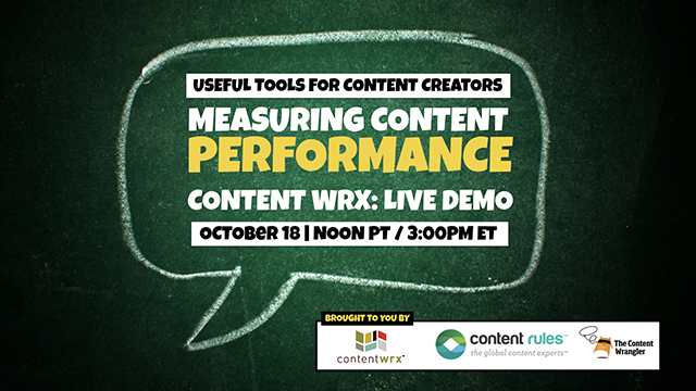 Measuring Content Performance with ContentWRX: Live Demo + New Insights