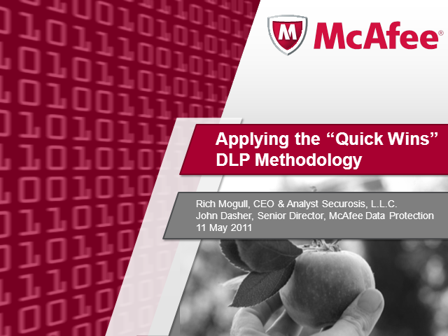 "Applying the ""Quick Wins"" DLP Methodology"
