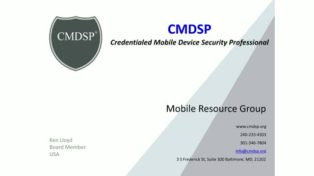 CMDSP - Mobile Security for the Mobile IT Administrator