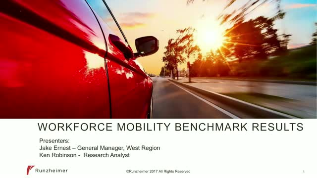 The Results Are In!  Workforce Mobility Benchmark Report - Vehicle Edition 2017