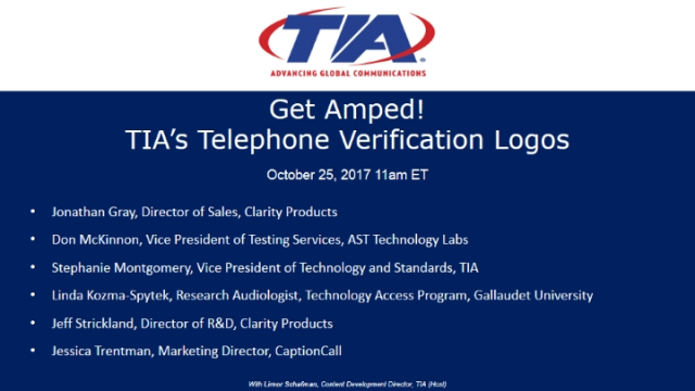 Get Amped! TIA's Telephone Verification Logos