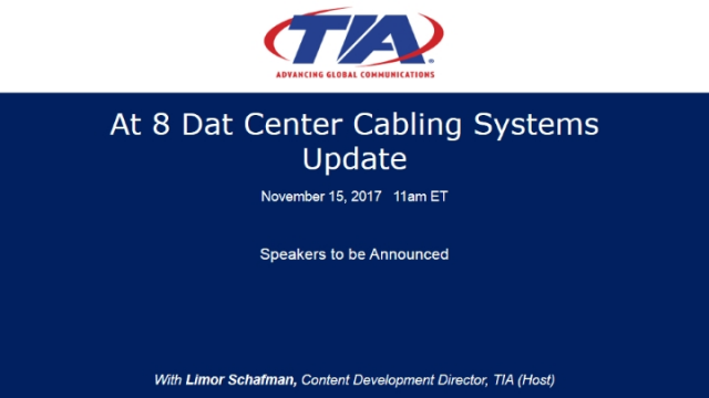 Cat 8 Data Center Cabling Systems Update