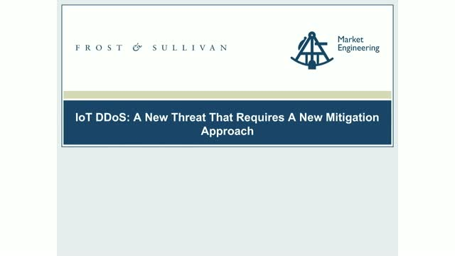 IoT DDoS: A New Threat That Requires New Mitigation Approach